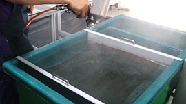 Hydro dipping tank (CFT-M-700) - spray activator after putting the film on the water surface